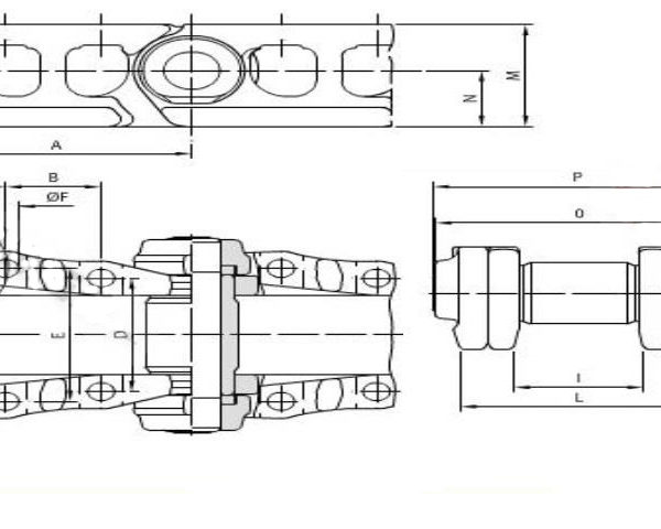 Vikšrų grandinės JSB 46 nareliai CATERPILLAR 312 314